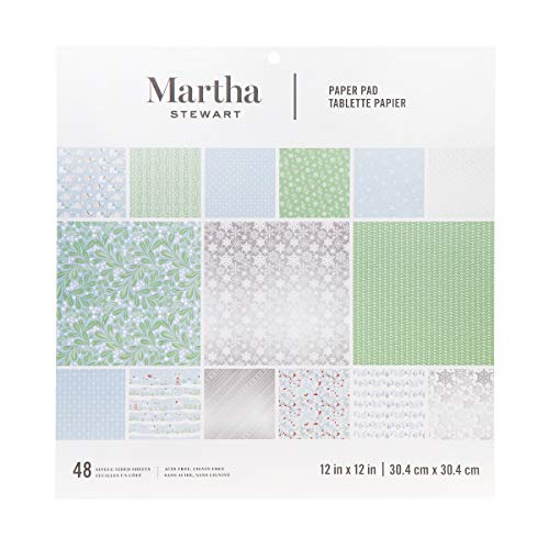 Martha Stewart 30068357 Paper Pad-Snowflake Paperpad, 12 x 12 inches, Multicolor -
