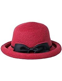 797a24ce88072 BAIYICHEN Sombrero de Paja de Las Mujeres Gorra De Las Mujeres del Visera  del Sombrero De Playa Sombrero De Hongo Verano Plegable…