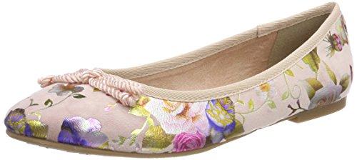 Tamaris Damen 22142 Geschlossene Ballerinas, Pink (Rose Flower), 39 EU