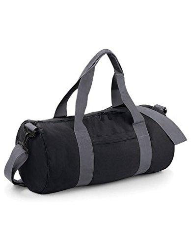 Bag Base - Sac de voyage en toile 20 L - BG140 - VARSITY BARREL BAG - Coloris noir