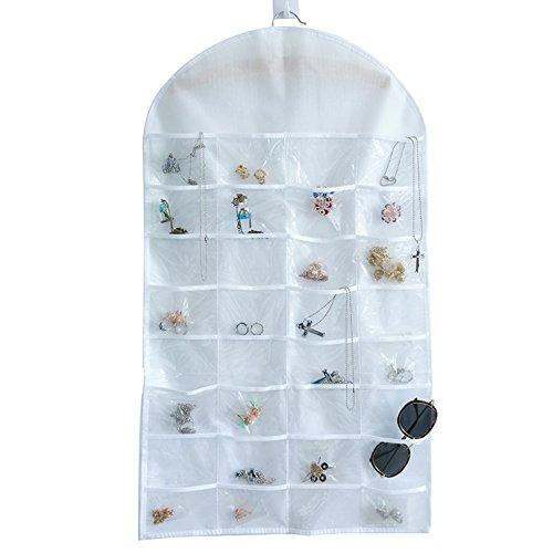 Große Veranstalter Wand-make-up (Nclon Schmuck hängetasche Nicht gewebt Wand montiert Schlanke Doppelseitiges design Ring Ohrring Schmuck Schmuck-veranstalter-B 46*81*1.5cm)
