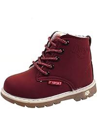 Fossen Zapatos Niño invierno Niña Martín Botas de Botines Caliente Zapatillas de Nieve ...
