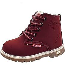 Botas Cortas para niños Invierno, niños niños cálidos niñas Zapatillas de Deporte de