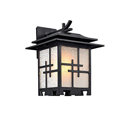 Traditionnel E27 Rainproof Mur Lampe Chinois Japonais Simple En Plein Air Étanche Mur Applique Lanterne Imitation Rétro Extérieur Mur Art Luminaires pour Villa Courtyard Paysage Décoratif
