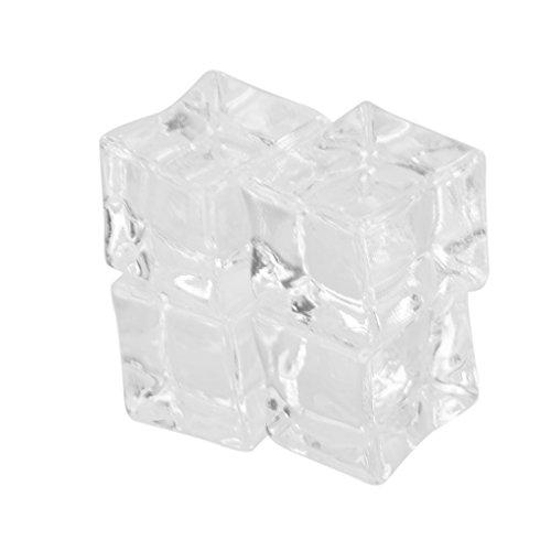 Imported 20pcs Fake Artificial Acrylic Ice Cubes Crystal Barwar Wedding Decor 2cm