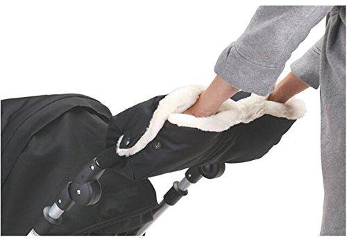 bilibala Baby Fingerlose Handschuhe Handwärmer Kinderwagen Kinderwagen Hand muff Wasserdicht Winter Handschuhe schwarz