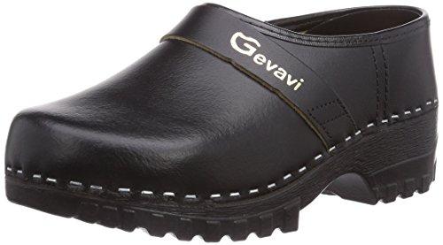Gevavi 1550/00 PU SCHOENKL. ZWART Unisex-Erwachsene Clogs Schwarz (Schwarz(Zwart) 00)