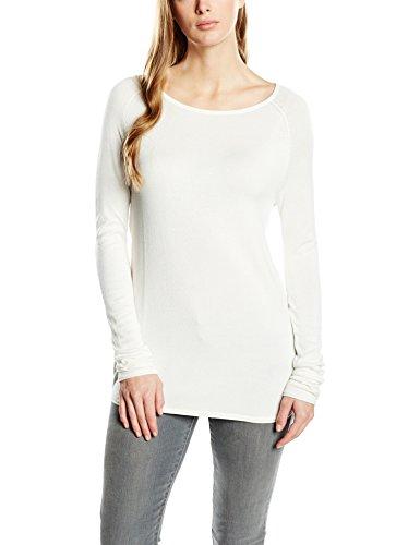 ONLY Damen Langarmshirt Onlmila Lacy L/s Long Pullover KNT, Einfarbig, Gr. 36 (Herstellergröße: S), Weiß (Cloud Dancer) (Lacy Leggings Für Frauen)