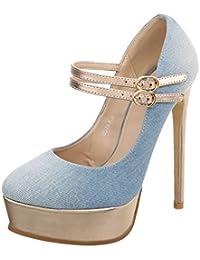 Ital-Design High Heel Pumps Damenschuhe High Heel Pumps  Pfennig- Stilettoabsatz High Heels 9d1e6bdd19