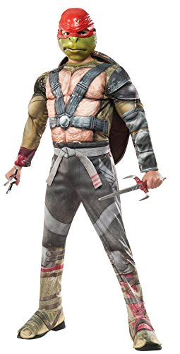 Teenage Mutant Ninja Turtle 2 Deluxe Raphael Jungen Kostüm M=Gr. 128/140 (Junge Ninja Turtle Kostüme)