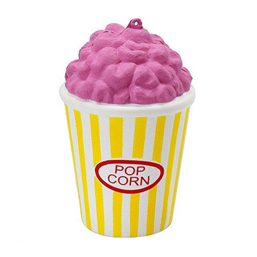 Gaddrt Squeeze Popcorn Cup Squishy Langsam steigende Dekompression Ostern Telefon Strap Toy (gelb) (Baby Kostüme Popcorn)