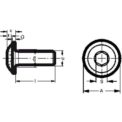 4 tornillos de cabeza plana con brida seg/ún ISO 7380-2 TX de acero inoxidable A2.