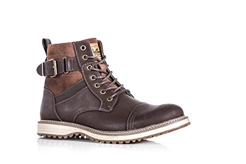 mens-real-leather-ankle-boots-combat-zip-up-formal-casual-smart-lace-shoes-uk7-brown