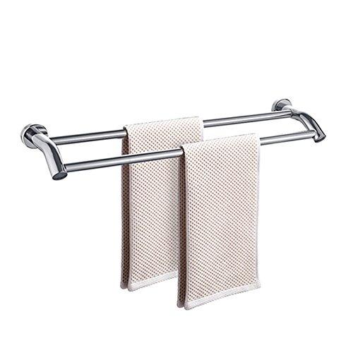 SDF Handtuchstange Badhandtuchhalter aus Edelstahl 304 Badetuchhalter Wandmontierter Doppelmast Klebstoff oder perforiert (größe : 40 * 14.3cm)