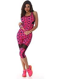 Tenue de fitness, legging 3/4, forme capri et débardeur de sport pour femme | Tenue 2 pièces haut et pantalon de sport, Tenue d'entrainement, Tenue de sport, Tenue de course