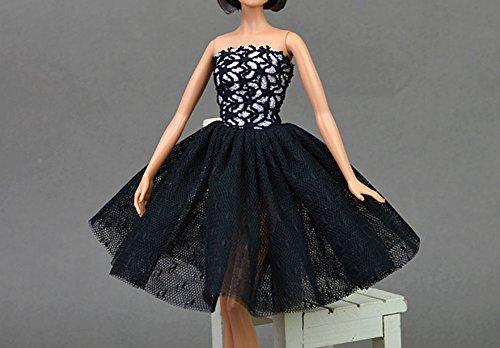 BC-010 Mode magnifique robe de soirée à la main pour la poupée pour Barbie robes / vêtements /robe de poupée ( 3)