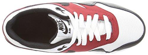 Nike Air Max 1 Gs Scarpe Sportive, Unisex Bambino Multicolore (White/Blue/Black/Gym Red)