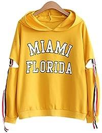 DaBag Damen Herbst Dünn Kapuzenpullover College Kawaii Sweatshirts  Studentisch Pullover Langarm Sweater… 77611fb458