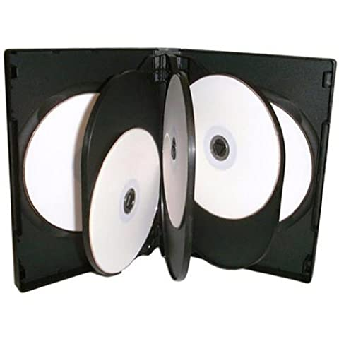 Four Square Media 1 X CD DVD / BLU RAY 27mm Black DVD 8 Way Case for 8 Disc - Pack of 1