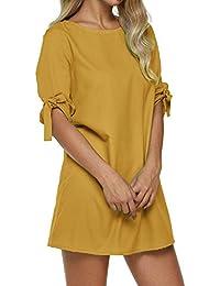 Amazon.fr   Robes Manches Trois Quart   Vêtements dba1ede8290