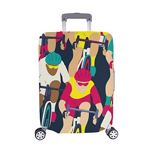 Spandex-rennen (Gruppe Radfahrer Fahrrad Rennen Spandex Trolley Reisegepäck Beschützer Koffer Abdeckung 28,5 X 20,5 Zoll)