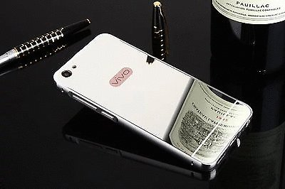 Erric Luxury Aluminum Metal Frame Bumper+ Acrylic Mirror Back Case For Vivo Y55L