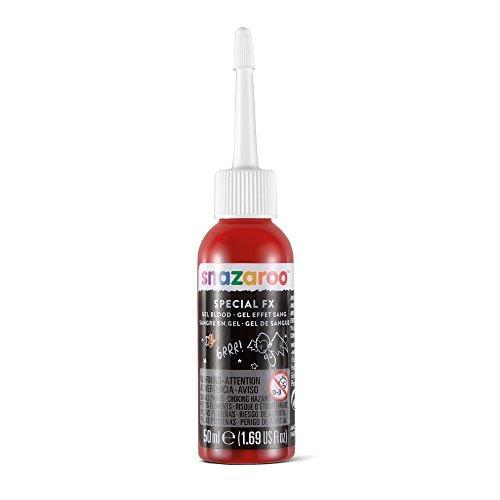Snazaroo   Gel sangre para efectos especiales FX  50 ml  color rojo oscuro