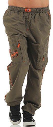 SUCCESS Kinder Jungen Cargo Hose Casual Wear Knaben Chino Stoff Hose 5 Pocket Regular Fit Freizeithose (146, 6066-olive) Jungen Jogginghose Cargo