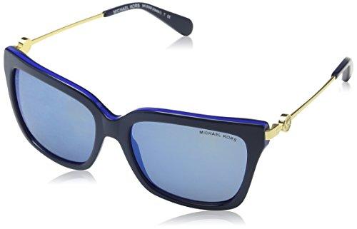 Michael Kors Damen 313455 Sonnenbrille, Navy/Cobalt/Blueemirror, 54