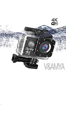 4K 30fps Action Cam Sport Cam Ourlife 2.0 Pollici Schermo Wifi Impermeabile fotocamera sport d\'azione 170° Angolo di Visione