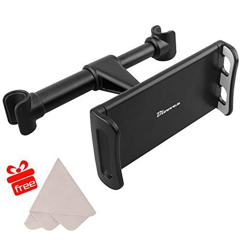 Tablet Halterung Auto Kopfstütze, Blooven KFZ-Kopfstützen Halterung für Tablet von 4 bis 10 Zoll, Tablet Halterung mit 360 Grad-Rotation Universal mit Mikrofaser Reinigungstücher (Black)