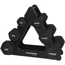 Tunturi - Set de mancuernas de neopreno con soporte negro negro Talla:n/a