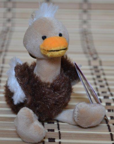 12 Strauß (Schlüsselanhänger - Plüsch Strauß ca.12cm - Zuluduka)