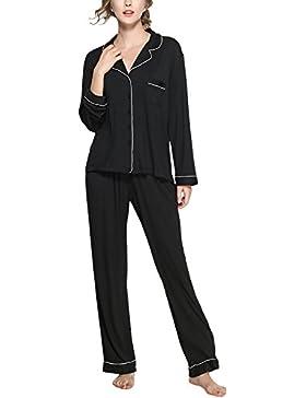 204fdb82527a [Patrocinado]Dolamen Pijamas Camisón para mujer, Mujer Algodón Modal largo Camisones  Pijamas,