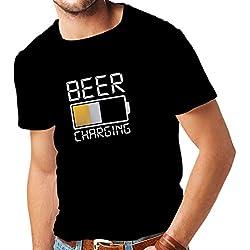 lepni.me Camisetas Hombre Emborracharse, Ropa Divertida para Beber Alcohol, Ideas Divertidas de Regalos para Amantes de la Cerveza (X-Large Negro