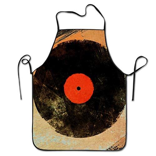 Vinyl Records Retro Music Dj Vintage Paint Brushes Bib Apron Adult Women Unisex Durable Comfortable Washable for Cooking Baking Kitchen Restaurant - Vintage Paint Brush
