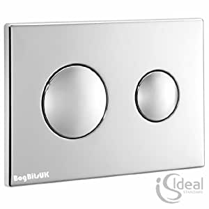 Ideal Standard S4399aa Chrome Dual Flush Plate Chrome Diy Tools