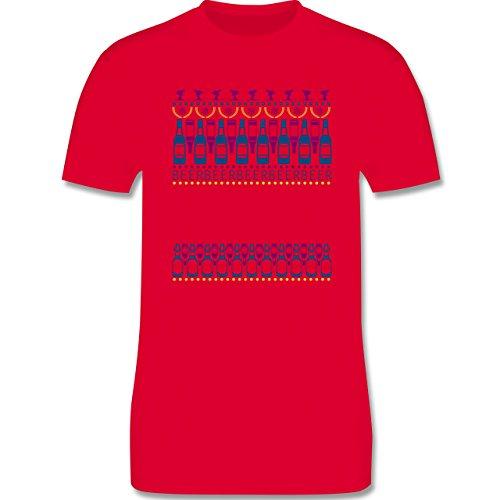 Après Ski - Apres Ski Sweater - Herren Premium T-Shirt Rot