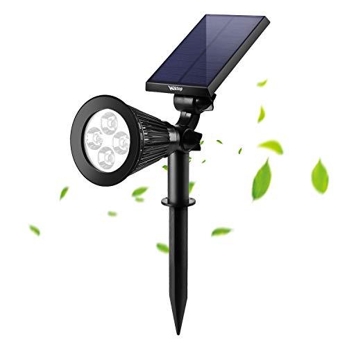 Wilktop LED Solar Strahler Solarleuchte Solarbetriebene Garten-Licht Landscape Beleuchtung Spotlight Warmweiß 3th Version Superhelle 1st.Warmweiß