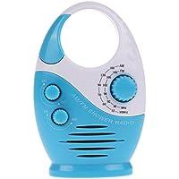 Domybest Mini AM FM Radio de douche à suspendre de salle de bain étanche Musique radio 3couleurs bleu