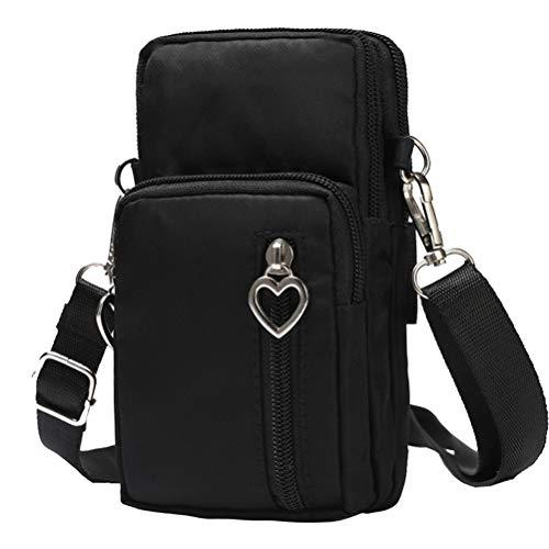 Schimer Hüfttasche Waist Bag Handytasche, Handy Umhängetasche Mädchen, Canvas Universal Handytasche zum Umhängen Kartentasche Geldbörse Kleiner Taschen Damentasche für Frauen Kinder, Phone (A)