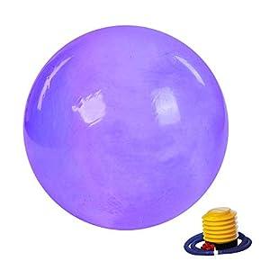 Cocoarm Yoga Ball 65 cm Gymnastikball Übungsball Anti Burst Yoga Pilates Fitness Ball Sitzball Therapieball mit Luftpumpe