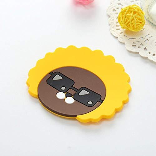 WANG Coaster Parche de Silicona Decorativo de Dibujos Animados Cacao Amigos Taza Estera del Partido Favores Kawaii Niños Chica Estudiante Herramientas Regalos para Fiestas, 4