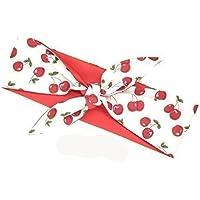 Rockabilly Haarband Handmade 50ger Jahre weiß rote Kirschen