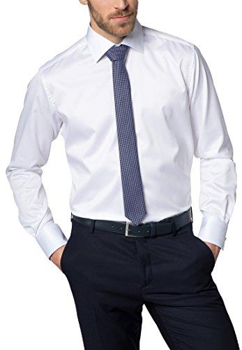Eterna Long Sleeve Shirt Modern Fit Twill Uni Bianco