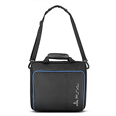 Zerone Large Capacity Travel Storage Carry Case, Portable Protective Shoulder Bag Handbag for PlayStation 4 Console Carrying Bag and Accessories by Zerone