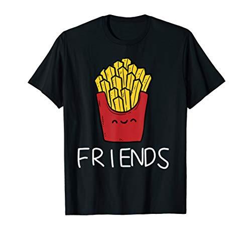 Vater Und Sohn T-Shirt Partnerlook Best Friends Pommes Shirt (Vater Sohn Kostüm)