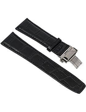 Citizen Eco Drive Ersatzband 23mm Leder, schwarz für Funk Chronograph AT8110-11A