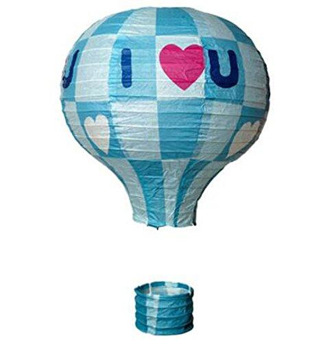 (Black Temptation Geburtstagsparty/Weihnachten/Ostern/Mall Dekoration hängen Papier Laterne Heißluftballon (Blau))