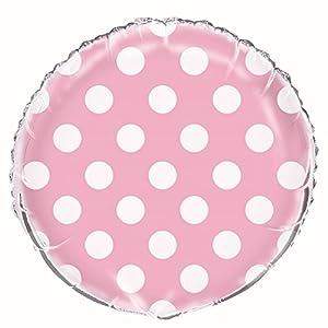 Partido Ênico de 18 pulgadas Lunares Globo (Foil rosado encantador)